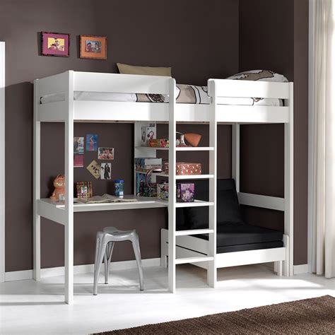 lit mezzanine et bureau lit mezzanine avec fauteuil et bureau aubin zd1 lit sur