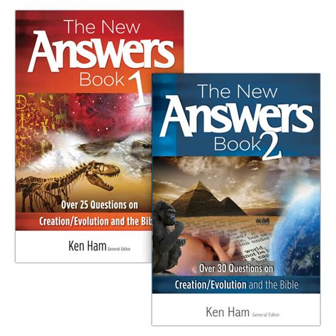 1 the new answers 0890515093 the new answers book 1 2 bundle answers in genesis