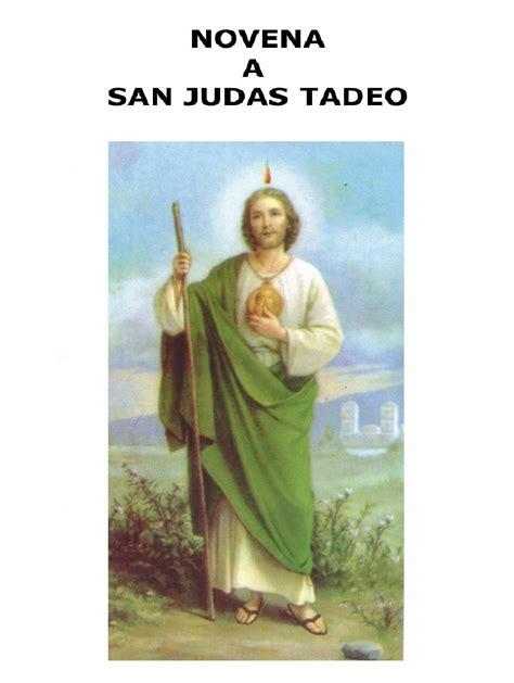 oraciones a san judas tadeo novena a san judas tadeo