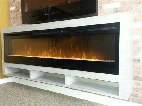 Making Linear Electric Fireplaces TV friendly   Stylish