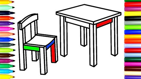 coloring table coloring chair and table how to color drawing pages to