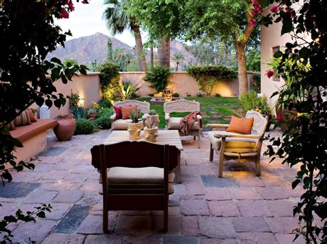 what is backyard in spanish stucco walls lend privacy to this arizona backyard rustic