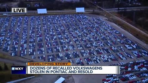 Pontiac Silverdome Sold by Dozens Of Recalled Volkswagens Stolen From Silverdome Lot