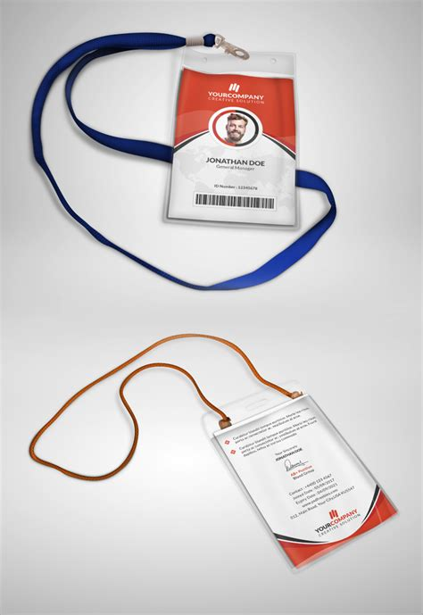 Identification Card Templates Psd by Multipurpose Office Id Card Template Psd Psdfreebies
