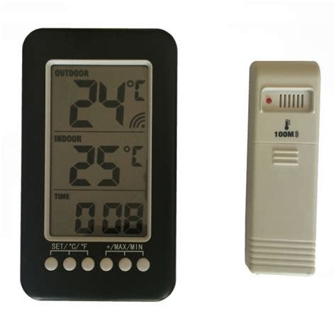 Termometer Electric wireless digital electric indoor outdoor thermometer time for fridge house ebay
