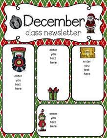 December Newsletter Template by Simply Delightful In 2nd Grade December Newsletter Freebie