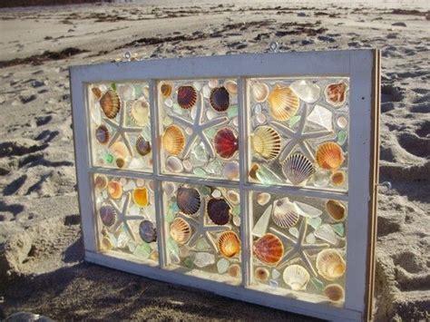 sea shell badezimmer sea glass window by beachcreation on etsy 150 00 g 252 mo