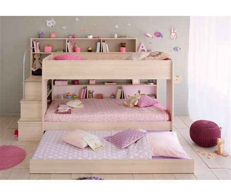 bunk bed with mattress included bibop 2 bunk twin over twin bed with trundle 2 mattresses