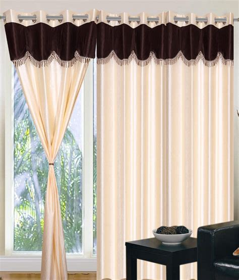 9 feet long curtains home sazz cream valance set of 4 fancy long door curtains