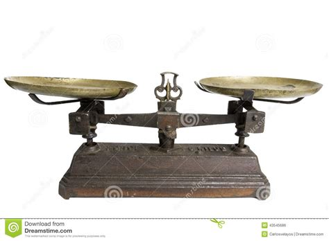 Fashioned Scales Scale Stock Photo Image 43545686