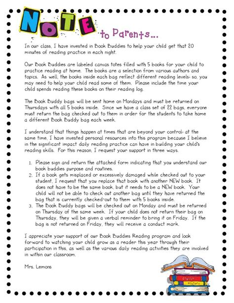 Parent Letter Book Report 210 best images about homework ideas on