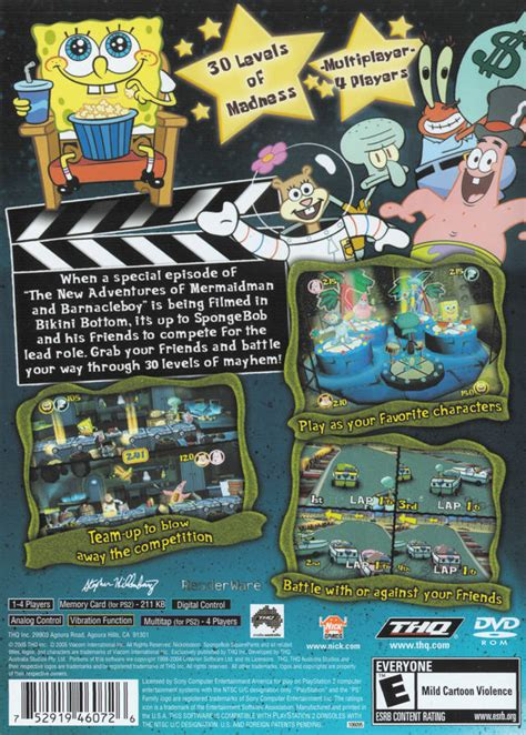 spongebob squarepants lights camera pants spongebob squarepants lights camera pants box shot for