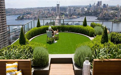 rooftop plants slope garden ideas city landscape top view from rooftop design with modern green round wood