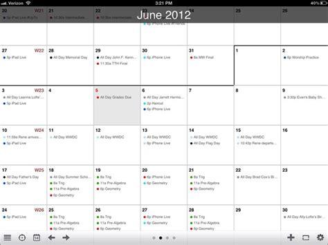 Calendar Agenda Agenda Calendar For Iphone And Review Imore