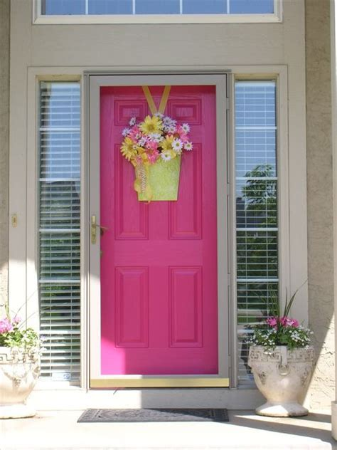 Pink Front Door Door Designs The Feminine Touch Of Pink