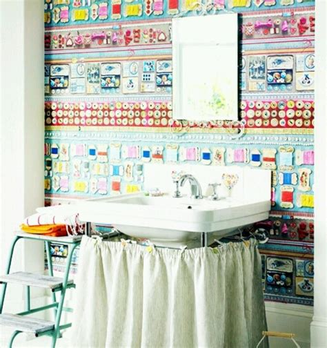 funky bathroom wallpaper ideas 25 best eclectic bathrooms images on pinterest bathroom