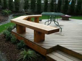 outdoor yards ideas benches ideas decks ideas decks with benches seats wood benches ground