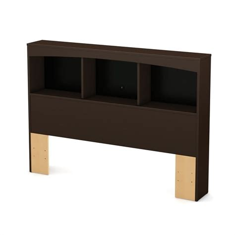 south shore back bay full bookcase headboard in espresso south shore back bay full bookcase headboard in chocolate