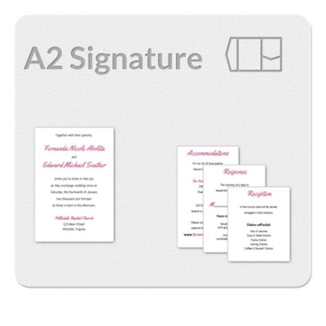 a2 size card template a2 signature invitation template
