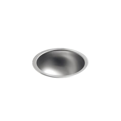 undermount stainless steel bathroom sink kohler bolero round drop in or undermount stainless steal
