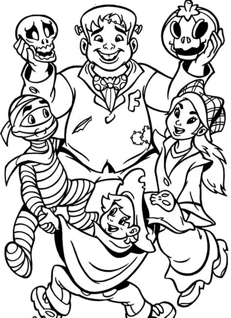 halloween coloring pages monsters halloween monsters coloring page