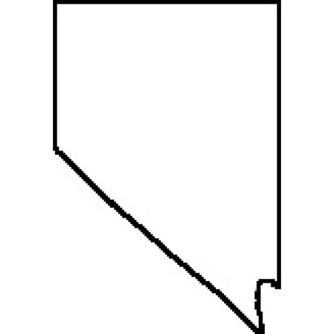 nevada map coloring page nevada state outline map afputra com