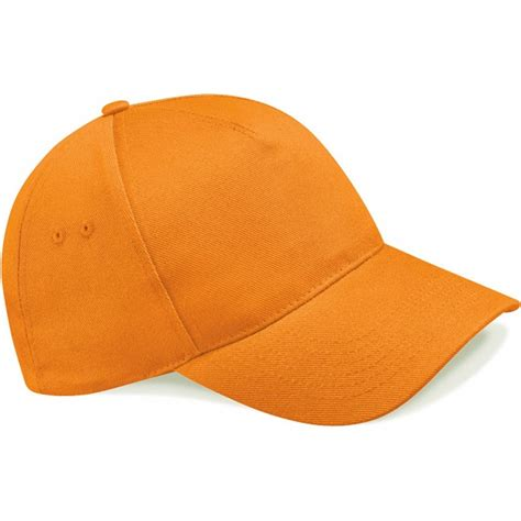beechfield bright orange baseball cap