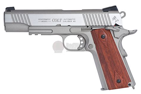 Airsoft Gun M1911 cybergun colt 1911 rail co2 gbb pistol silver buy