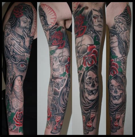 gothic sleeve tattoo designs 32 tattoos