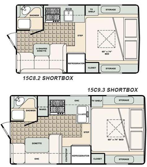rv conversion floor plans bigfoot 1500 series truck cer 15c8 2 and 15c9 3