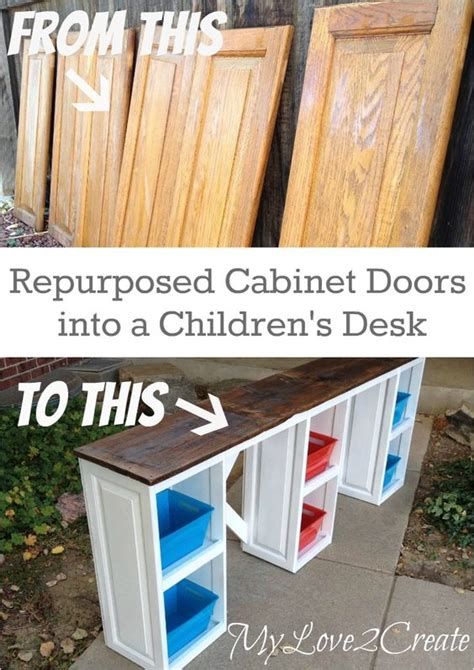 out of the woods cabinets my love 2 create makes a great desk for the kids out of