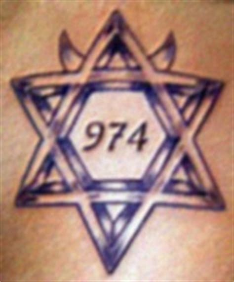 6 point star tattoo white prison gangs gangster disciples