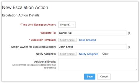 escalation email template setting up escalation help zoho crm