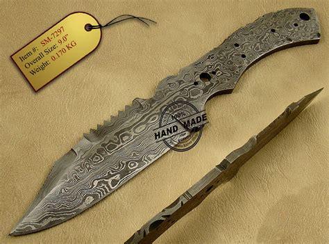 damascus blade knife blank blade danger damascus skinner knife custom handmade