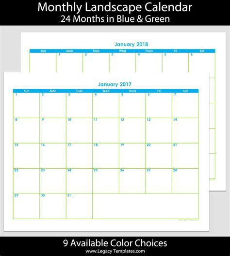 2017 2018 24 month landscape calendar 8 5 x 11 legacy templates
