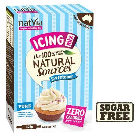 natvia sugar free natural sweetener icing mix 375g from ocado