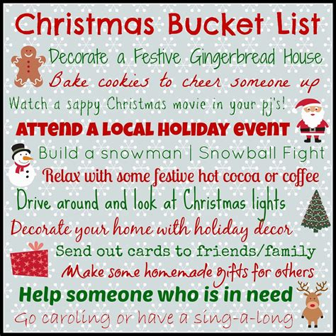 Good Stocking Stuffers by Christmas Bucket List Pictures Photos And Images For