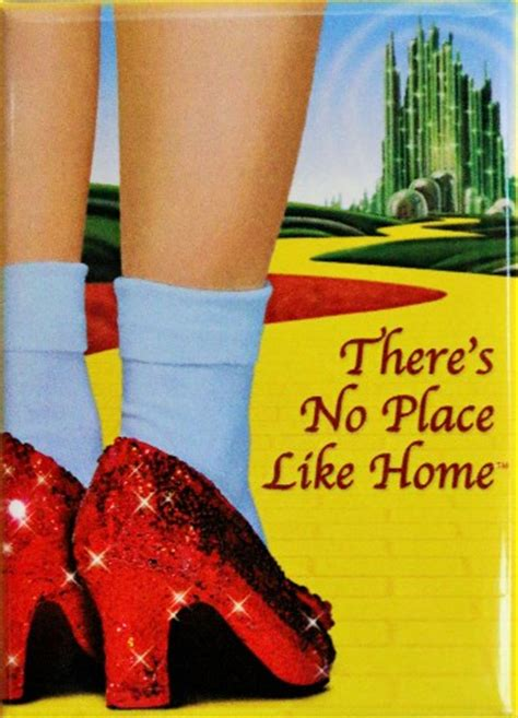 there s no place like home fridge magnet wizard of oz