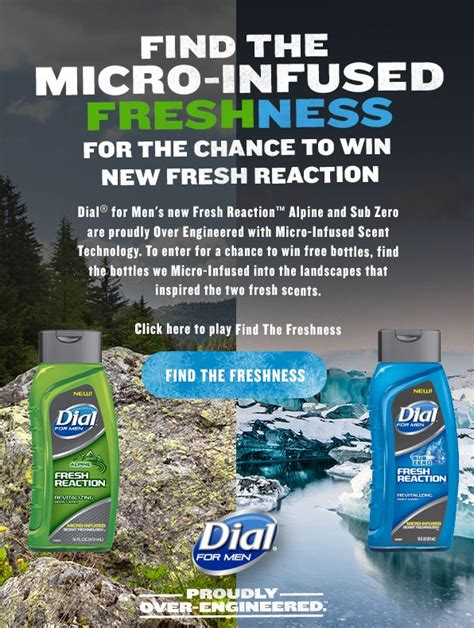 Sweepstakes For Men - dial for men find the freshness sweepstakes mumblebee inc