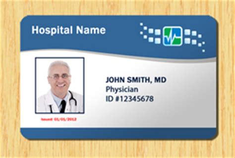 Hospital Id Badge Template Hospital Id Template 1 Other Files Patterns And Templates