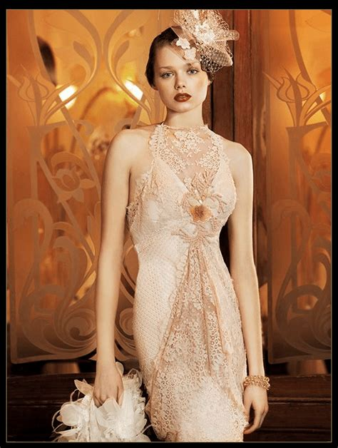 deco style wedding 1920s style wedding gowns yolan cris deco weddings