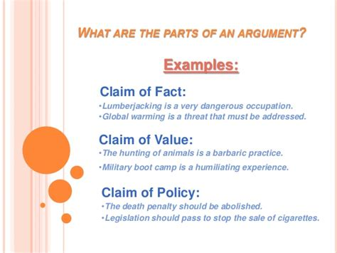 Claim Of Fact Essay by Exle About Claim Of Fact Essay