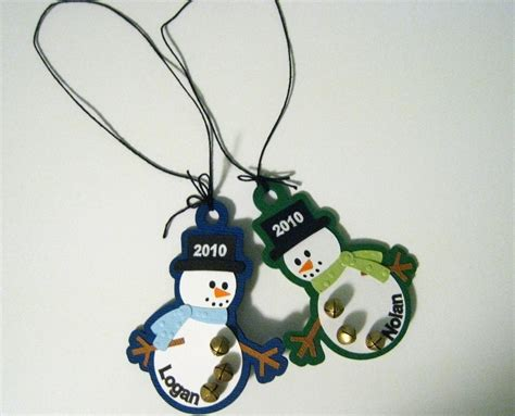personalized snowman christmas ornaments custom order