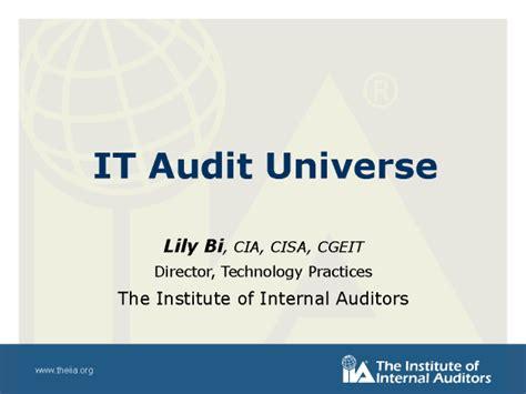 It Audit Universe Template It Audit Universe