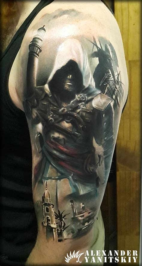 tattoo assassins ac assassin s creed tattoo by alexander yanitskiy kipod