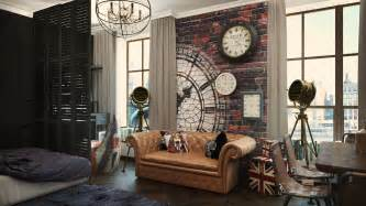 2 Industrial Apartment Interior Design That Will Inspiring You   RooHome   Designs & Plans