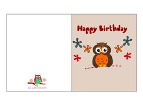 free printable owl birthday cards