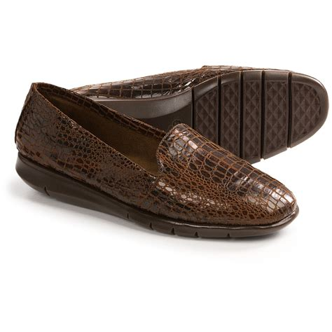 aerosole shoes aerosoles army shoes slip ons for in brown snake