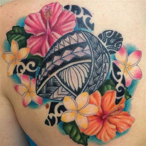 tribal plumeria tattoos hawaii hawaiian hibiscus plumeria