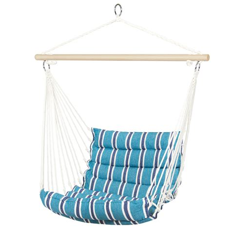 deluxe padded cotton hammock hanging chair indoor outdoor